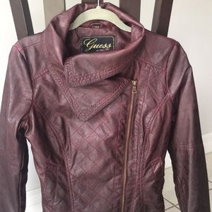 Guess Jackets & Coats - Guess Quilted Moto Jacket